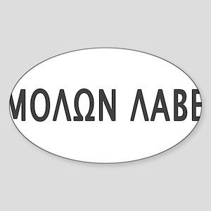 Molon Labe Sticker (Oval)