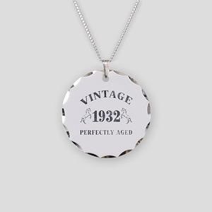1932 Vintage w/ Horses Necklace Circle Charm