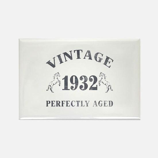 1932 Vintage w/ Horses Rectangle Magnet