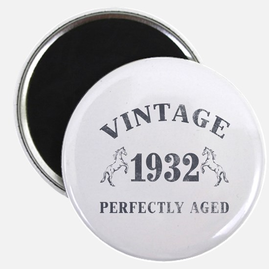 """1932 Vintage w/ Horses 2.25"""" Magnet (10 pack)"""