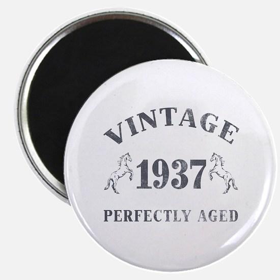 """1937 Vintage w/ Horses 2.25"""" Magnet (10 pack)"""