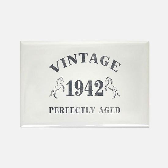 1942 Vintage w/ Horses Rectangle Magnet