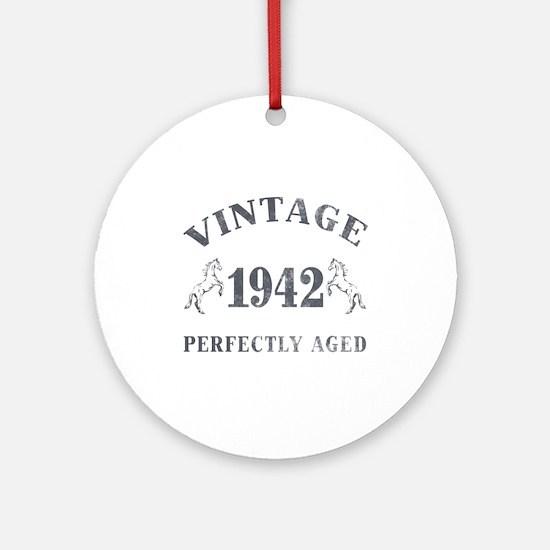 1942 Vintage w/ Horses Ornament (Round)