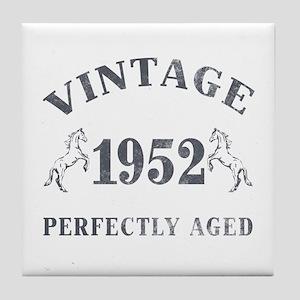 1952 Vintage w/ Horses Tile Coaster