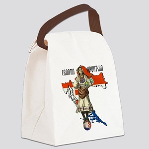 Croatia Culture Canvas Lunch Bag