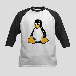 Classic Tux Penguin Kids Baseball Jersey