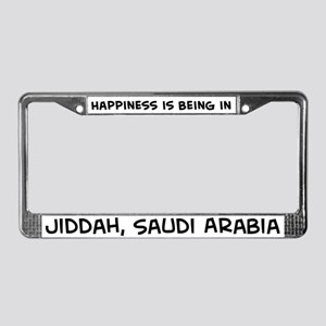 Happiness is Jiddah License Plate Frame