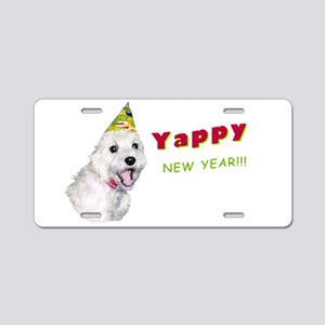 Yappy New Year! Aluminum License Plate