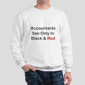 Accountants See Black & Red Sweatshirt