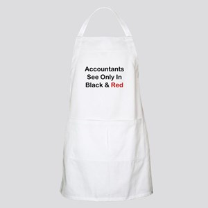 Accountants See Black & Red Apron
