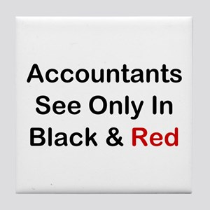 Accountants See Black & Red Tile Coaster