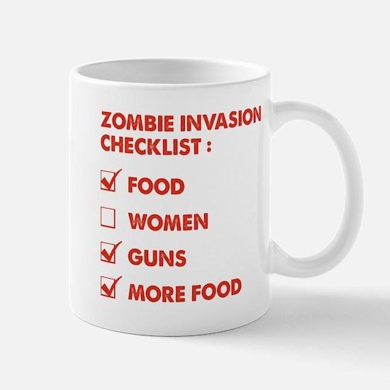 Zombie Invasion Checklist Mug