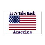 Take Back America Car Magnet 20 x 12