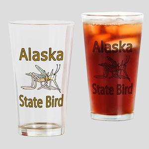 Alaska State Bird Drinking Glass