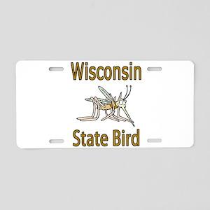 Wisconsin State Bird Aluminum License Plate