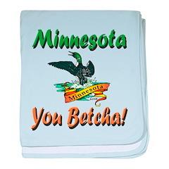 Minnesota You Betcha baby blanket