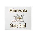 Minnesota State Bird Throw Blanket