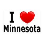 I Love Minnesota 38.5 x 24.5 Wall Peel