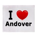 I Love Andover Throw Blanket