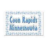 Coon Rapids Minnesnowta Car Magnet 20 x 12