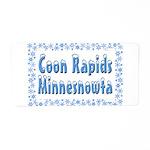 Coon Rapids Minnesnowta Aluminum License Plate
