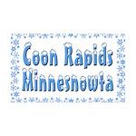 Coon Rapids Minnesnowta 38.5 x 24.5 Wall Peel