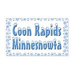 Coon Rapids Minnesnowta 22x14 Wall Peel