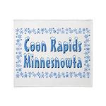 Coon Rapids Minnesnowta Throw Blanket
