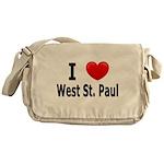 I Love West St. Paul Messenger Bag