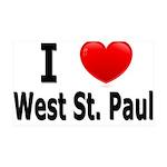 I Love West St. Paul 38.5 x 24.5 Wall Peel
