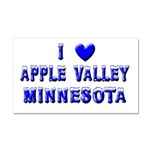 I Love Apple Valley Car Magnet 20 x 12