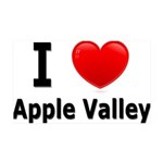 I Love Apple Valley 38.5 x 24.5 Wall Peel
