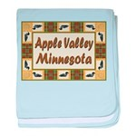 I Love Apple Valley baby blanket