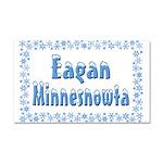 Eagan Minnesnowta Car Magnet 20 x 12
