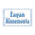 Eagan Minnesnowta 38.5 x 24.5 Wall Peel