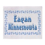 Eagan Minnesnowta Throw Blanket