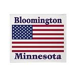 I Love Bloomington Throw Blanket
