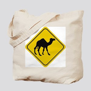 Camel Crossing Sign Tote Bag