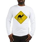 Camel Crossing Sign Long Sleeve T-Shirt