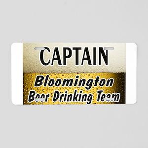 Bloomington Beer Drinking Tea Aluminum License Pla