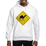 Camel Crossing Sign Hooded Sweatshirt