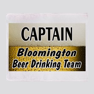 Bloomington Beer Drinking Tea Throw Blanket