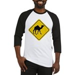 Camel Crossing Sign Baseball Jersey