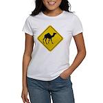 Camel Crossing Sign Women's T-Shirt