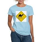 Camel Crossing Sign Women's Pink T-Shirt