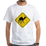 Camel Crossing Sign White T-Shirt