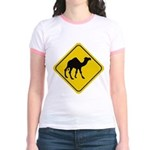 Camel Crossing Sign Jr. Ringer T-Shirt