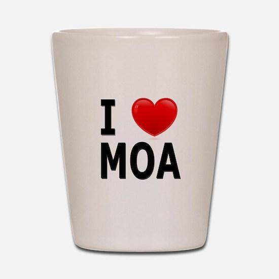 I Love MOA Shot Glass