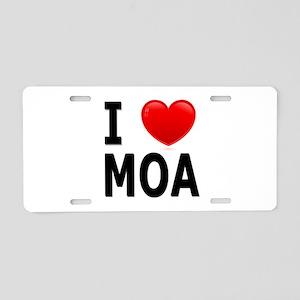 I Love MOA Aluminum License Plate