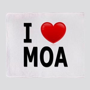 I Love MOA Throw Blanket